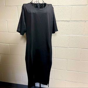 Stretch Material Tunic Top